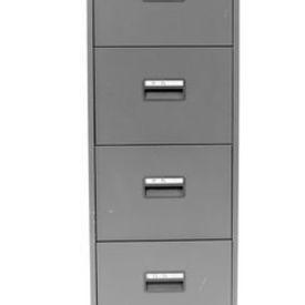 Graphite Silverline Metal 4 Drawer Filing Cabinet