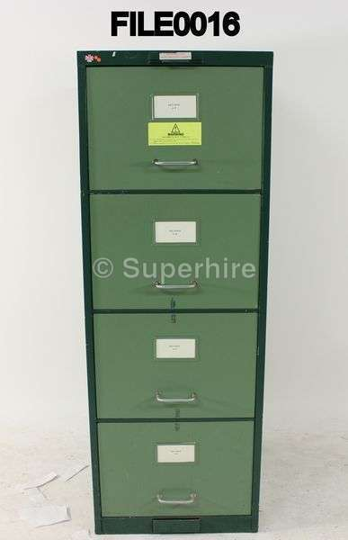 2 Tone Green Metal Handle 4 Drawer Metal Filing Cabinet