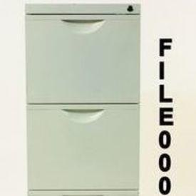 White Metal Mkb 3 Drawer Filing Cabinet