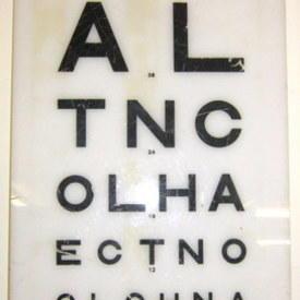 Eye Chart 47cm High 20cm Long