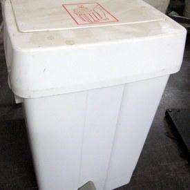 Plastic Medical Waste Bin 52cm High 24cm Wide 31cm Long