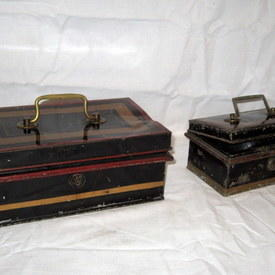 Lockable Metal Boxes Made In England 15x8x9.5cm And 23x9x14cm
