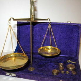 Miniature Weighing Scales 33cm High