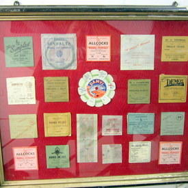 Collection Of Vintage Fishing Labels 56cm High 69cm Long