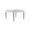 Circ White 'g.P' Grid Coffee Table With Glass Top (38cm H X 80cm X 80cm)