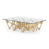 Bent Ply Butterfly Coffee Table With Rect Glass Top  (120cm X 90cm X 33cm H)