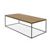 Black Steele Rect.Coffee Table With Wooden Top