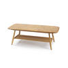 Beech Wood Rect Ercol Coffee Table With Spindle Shelf