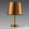Copper 'lindvall' Table Lamp With Green Flex