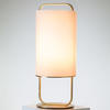 Brass & White Glass Alistair Table Lamp