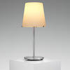 Brushed Ali Pole (3247) Table Lamp With White Glass Shade
