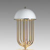 Gold Plated & White Glossy Dome Top Turner Table Lamp
