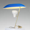 Brass & Blue Shade Spotlight Model 548 Umbrella Table Lamp
