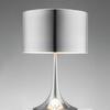 Polished Aluminium Spun Table Lamp & Shade