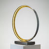 Small Brushed Bronze Sculpture Ring Led Light