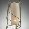 Brass Wire Framed White 'star' Table Lamp