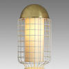 Brass Domed Top & White Netted 'magnolia' Table Lamp