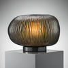 Medium Smoke Grey Textured Glass 'erbse' Table Lamp