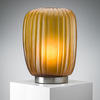 Amber Ribbed Glass Mannakara Tall Table Lamp