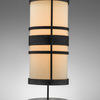 Bronze & Cream Art Deco Cylinder Table Lamp