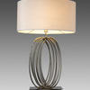 Nickel 'harmony' Looped Table Lamp With Shade