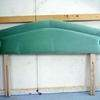 5' Lt/Green Slim Padded Headboard