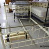 4'6 M & S  White & Brass Bedstead Complete