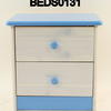 Steens Harry Wash & Blue 2 Drawer Bedside Cabinet