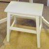 Candy White Low Kiddies Stool