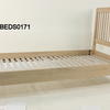 90cm Soaped Oak Hudson Single Stickback Headboard Bed Frame