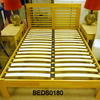 "Pale Slat 4'6""Ft.Low End Bed Complete"