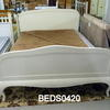 5' Off White Curved Bed Complete