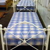 3' Off White Ornate Wrought Iron Bed