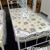 3'black & White Metal 'chiswick' Football Bedstead Complete