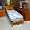 "Flaired Teak 2'6"" Bed Complete With Mattress  (50s)"
