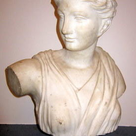 Marble Portrait Bust Of A Woman 61cm High