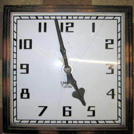 Vintage Square Station Wall Clock 52cmx52cm
