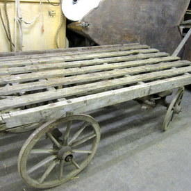 Old Wooden Hand Trolley