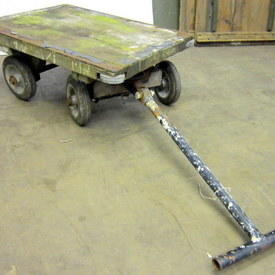 Wood And Metal Small Hand Trolley