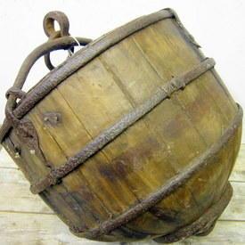 Wooden Well Bucket
