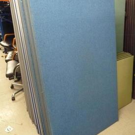 Carlton Pale Blue Office Screen