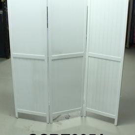 Ancona White Wash 3 Fold Screen