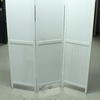 Ancona White Wash 3 Fold Screen