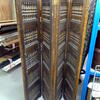 4 Fold Repro Oak Carved Spanish Screen