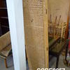 3 Fold Stained Bamboo & Rattan Screen