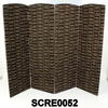 Trad Mud Cloth Print 4 Fold Screen