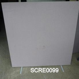 150Cmx150Cm Floor Standing Screen in Pink/Grey Speckle Fabric