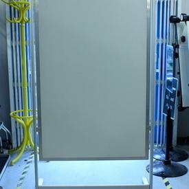 220Cmx102Cm Aluminium & Perspex ADvertising/Dividing Screen