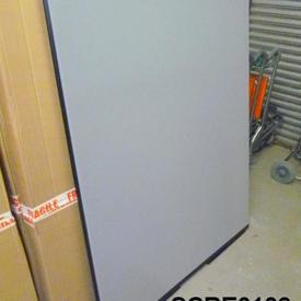 150Cm H X 120Cm W Pale Grey/Black Edge Free Standing Screen