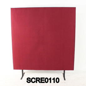 150Cm H X 120Cm W Plum/Black Edge Free Standing Screen
